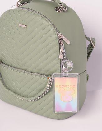 Брелок на сумку картхолдер із зображенням KAWS | 239182-21-XX - A-SHOP