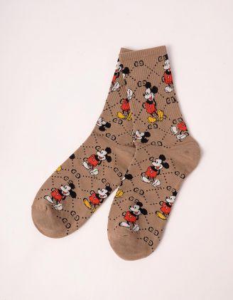 Шкарпетки з принтом Міккі Мауса | 243136-39-XX - A-SHOP