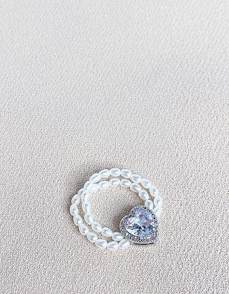 Кільце із перлин з серцем | 246997-01-XX - A-SHOP