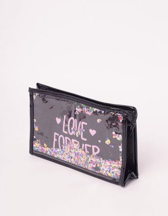 Косметичка з паєтками та написом love forever | 243601-02-XX - A-SHOP