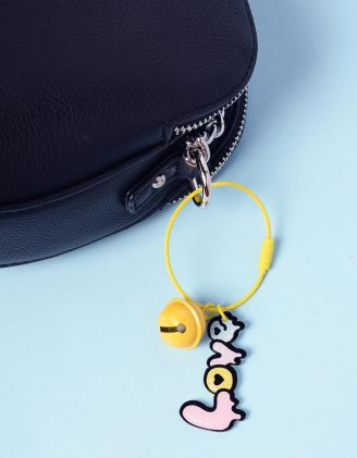 Брелок на сумку з написом та кулькою | 237406-19-XX