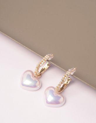 Сережки з серцями | 246113-08-XX - A-SHOP