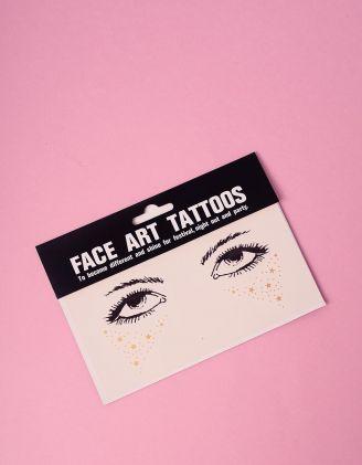 Арт тату для обличчя у вигляді зірочок | 240778-04-XX - A-SHOP