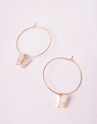 Сережки кільця з метеликами | 243837-01-XX - A-SHOP
