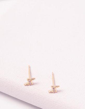 Сережки пусети з блискавками | 244671-08-XX - A-SHOP
