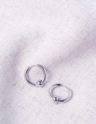 Сережки кільця з намистинками | 244417-05-XX - A-SHOP