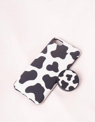 Чохол на iphone з принтом корівки | 245776-01-60 - A-SHOP