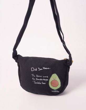 Сумка на плече з принтом авокадо | 243189-02-XX - A-SHOP
