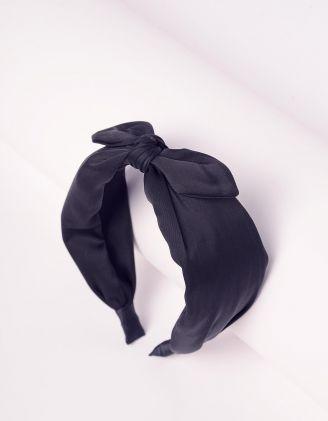 Обідок для волосся широкий з бантом | 242388-02-XX - A-SHOP