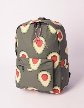 Рюкзак молодіжний з принтом авокадо | 240219-20-XX - A-SHOP