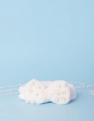 Пов'язка косметична з перлинами на банті | 241514-01-XX - A-SHOP