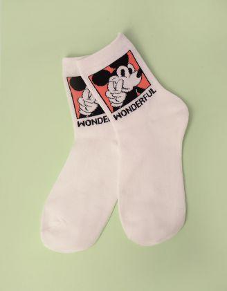 Шкарпетки з принтом Міккі Мауса | 246885-36-XX - A-SHOP