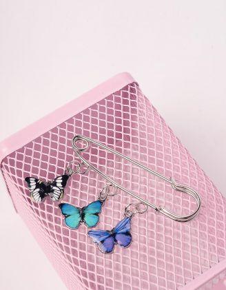Брошка у вигляді булавки з метеликами | 244055-61-XX - A-SHOP