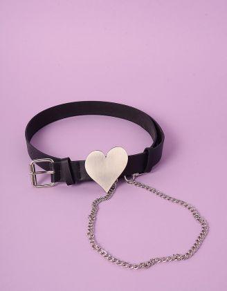 Ремінь на талію з ланцюжком та серцем | 247525-02-XX - A-SHOP