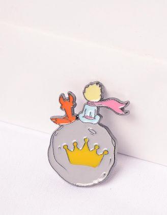 Брошка із зображенням Лиса та Маленького Принца | 247670-21-XX - A-SHOP