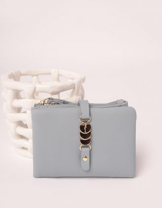 Гаманець портмоне з фурнітурою на застібці | 246037-31-XX - A-SHOP