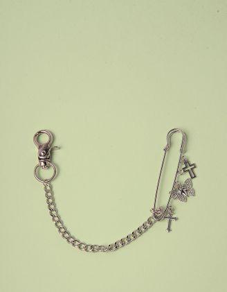 Ланцюжок на взуття з хрестами та метеликом на булавці | 246079-05-XX - A-SHOP