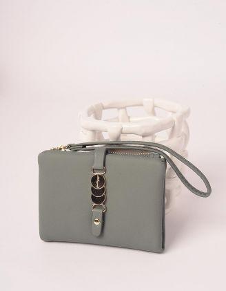 Гаманець портмоне з фурнітурою на застібці | 246037-37-XX - A-SHOP