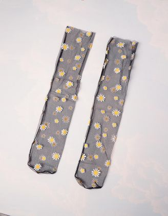 Шкарпетки  із сітки з ромашками | 245521-02-XX - A-SHOP