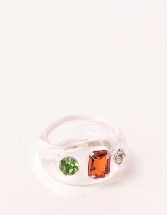 Кільце на руку прозоре з камінням | 248700-01-40 - A-SHOP