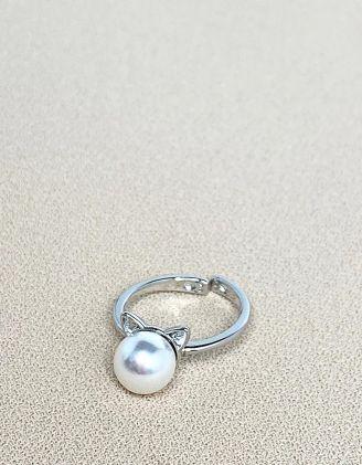 Кільце з перлиною та вушками | 246345-06-XX - A-SHOP