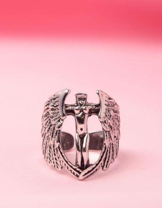 Кільце широке з янголом | 249820-05-XX - A-SHOP