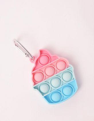 Іграшка антистрес pop it брелок у вигляді морозива | 249345-21-XX - A-SHOP