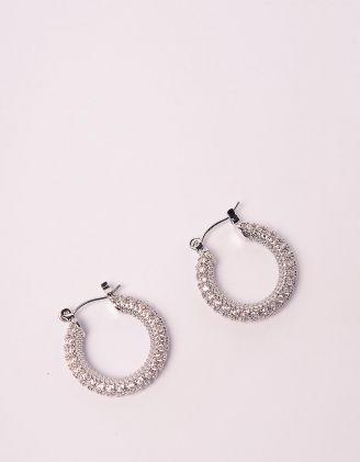 Сережки кільця зі стразами | 245962-06-XX - A-SHOP