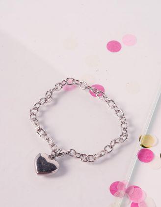 Браслет на руку із ланцюга з кулоном у вигляді серця | 239798-05-XX - A-SHOP