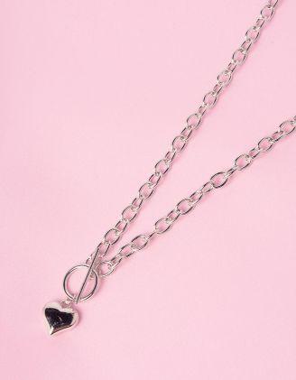 Підвіска на шию із ланцюжка з кулоном у вигляді серця | 244865-05-XX - A-SHOP