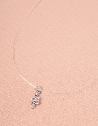Підвіска на шию із волосіні з кулоном у вигляді змії | 246924-05-XX - A-SHOP