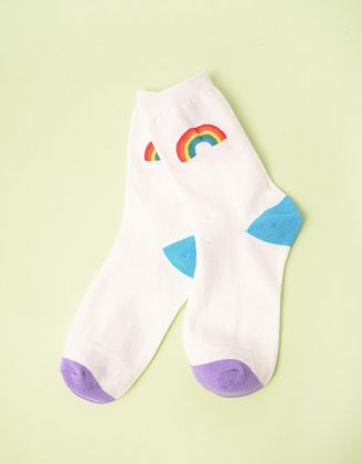 Шкарпетки з принтом веселки | 245398-01-XX - A-SHOP