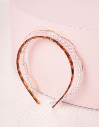 Обідок для волосся у наборі з перлинами | 242358-12-XX - A-SHOP