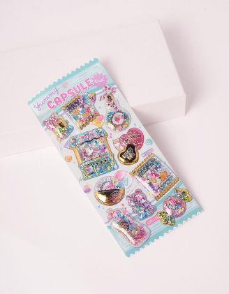 Стікери з блискітками із зображенням солодощів | 247458-37-XX - A-SHOP