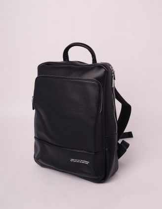 Рюкзак з написом на кишені | 245070-02-XX - A-SHOP