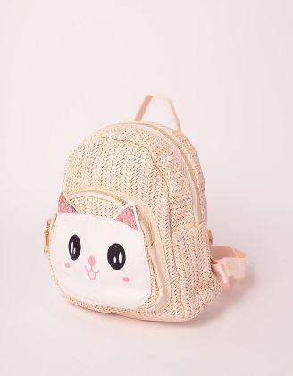 Рюкзак плетений з кицькою | 239320-22-XX - A-SHOP