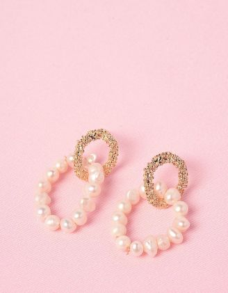 Сережки у формі кілець із перлин | 247761-08-XX - A-SHOP