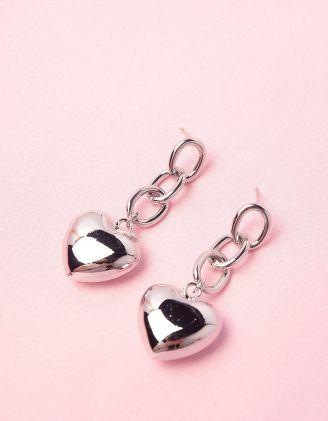 Сережки із ланцюжка з серцями | 248827-05-XX - A-SHOP