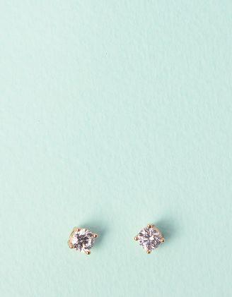 Сережки пусети зі стразами | 241440-08-XX - A-SHOP