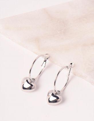 Сережки з серцями | 248674-05-XX - A-SHOP