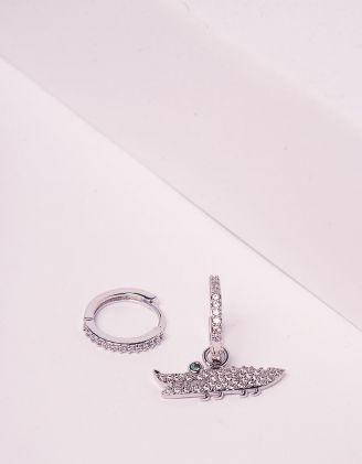 Сережки кільця маленькі з крокодилом   243859-05-XX - A-SHOP