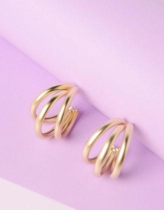 Сережки кільця потрійні | 235471-04-XX