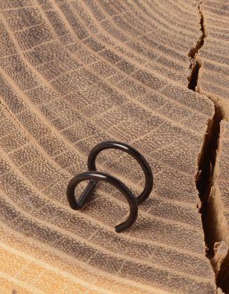 Сережка обманка у вигляді двох кілець | 232050-02-XX - A-SHOP