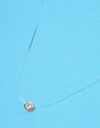 Підвіска із волосіні з камінцем у кулоні | 228464-08-XX - A-SHOP