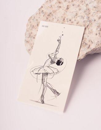 Тату тимчасове з малюнком балерини | 238194-02-XX - A-SHOP