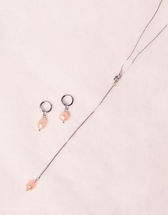 Комплект із підвіски та сережок з перлинами | 248229-06-XX - A-SHOP