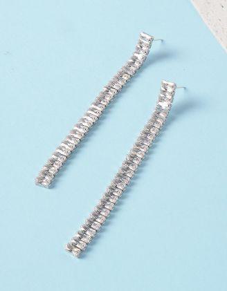 Сережки довгі вечірні з камінцями | 234501-06-XX - A-SHOP