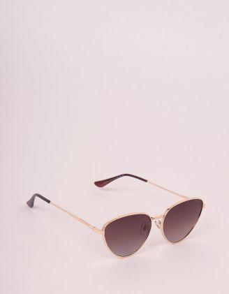 Окуляри сонцезахисні лисички з тонкими дужками | 248279-12-XX - A-SHOP