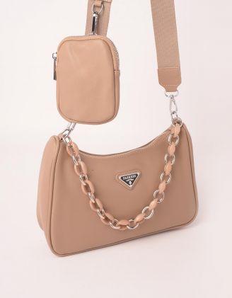 Сумка на плече з гаманцем та ланцюжком | 250128-22-XX - A-SHOP