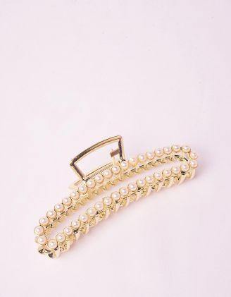 Шпилька для волосся крабік з перлинами | 246560-08-XX - A-SHOP
